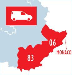Nous intervenons dans le 06, le 83 et à Monaco